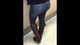The Daily Press _ Woman- In Skinny Jeans in Boots at School