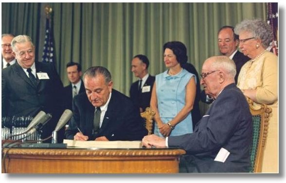 President Johnson Signs Medicare into Law - Google Search