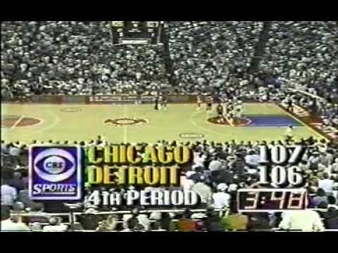 NBA 1988 Chicago Bulls vs Detroit Pistons