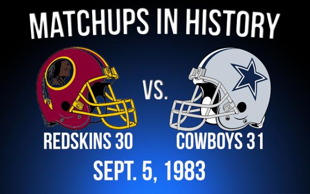 cowboys @ redskins 1983 week 1 mnf