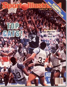 Ed Pinckney Powers Villanova Past Georgetown April 8, 1985 X 31324 credit:  Carl Skalak - assign
