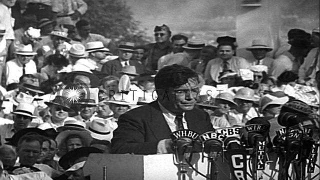 Wendell Willkie arrives in his home town and formally accepts the Republ